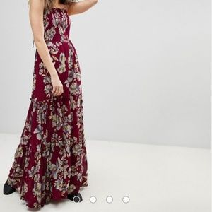 Free People Dresses - Free People Garden Party Maxi in Raspberry